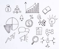 Doodle business and finance. With illustration sketch Stock Photos