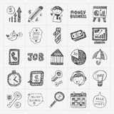 Doodle business icon Stock Photos