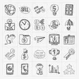 Doodle business icon Royalty Free Stock Image