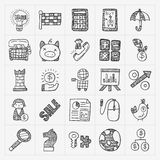 Doodle business icon Royalty Free Stock Photography