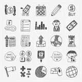Doodle business icon Stock Image