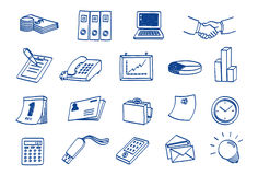 Doodle Business Icon Set Royalty Free Stock Photos