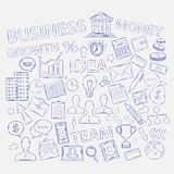 Doodle business icons Royalty Free Stock Images