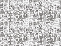 Doodle business pattern Stock Photo