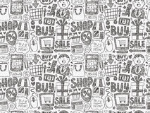 Doodle business pattern Stock Photography