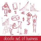 Doodle business people Stock Photography