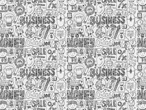 Doodle business seamless Stock Images