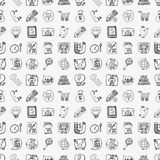 Doodle business seamless Stock Photos