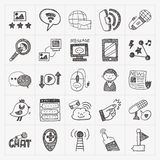 Doodle business seamless Royalty Free Stock Photos
