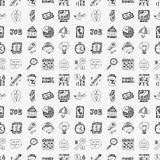 Doodle business seamless Royalty Free Stock Photography