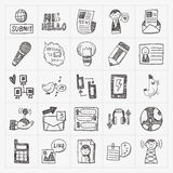 Doodle business seamless Royalty Free Stock Images
