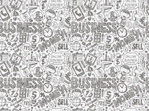 Doodle business seamless Stock Photography