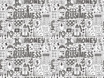 Doodle business seamless Stock Image