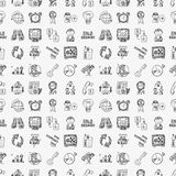 Doodle business seamless pattern Royalty Free Stock Photo