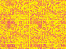 Doodle business seamless pattern. Cartoon vector illustration Royalty Free Stock Photography