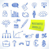 Doodle business set Royalty Free Stock Image