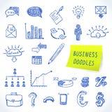Doodle business set. Of finance economy marketing decorative icons isolated vector illustration Royalty Free Stock Image