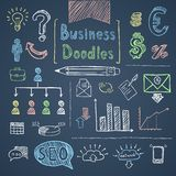 Doodle business set Stock Photos