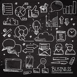 Doodle business set Royalty Free Stock Images