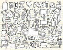 Doodle Business Technology Design Elements Royalty Free Stock Photos