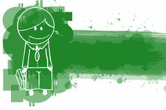 Doodle Businessman banner Royalty Free Stock Images