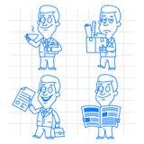 Doodle businessman business and development Stock Photos