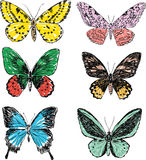 doodle butterflies Royalty Free Stock Photography