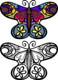 Doodle Butterfly Royalty Free Stock Photos