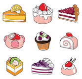 Doodle cake. Cute doodle cake,vector illustration Royalty Free Stock Photo