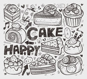 Doodle cake element Royalty Free Stock Photography