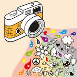 Doodle camera Royalty Free Stock Photo