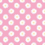 Doodle camomile. Vector seamless pattern. Doodle camomile. Seamless vector wallpaper Stock Photography