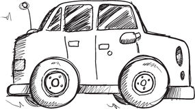 Doodle Car Vector Royalty Free Stock Photo