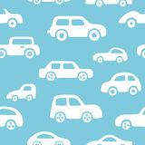 Doodle cars background. Seamless baby boy pattern in vector. Stock Photography