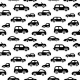 Doodle cars background.. Seamless baby boy pattern in vector. Texture for wallpaper, fills, web page background Stock Images