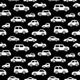 Doodle cars background. Seamless baby boy pattern in vector. Texture for wallpaper, fills, web page background Royalty Free Stock Photography