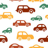 Doodle cars background. Seamless baby boy pattern in vector. Texture for wallpaper, fills, web page background Royalty Free Stock Image