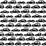 Doodle cars background. Seamless baby boy pattern in vector. Texture for wallpaper, fills, web page background Royalty Free Stock Images