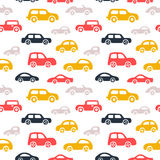 Doodle cars background. Royalty Free Stock Images