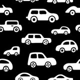 Doodle cars background. Stock Photo
