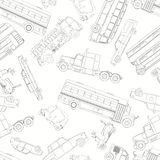Doodle cars pattern Royalty Free Stock Photos