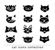Doodle cartoon cat set illustration, vector. Stock Photography