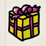 Doodle cartoon gift Stock Photo