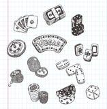 Doodle casino cions Stock Image