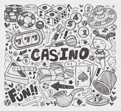 Doodle casino element Stock Photos