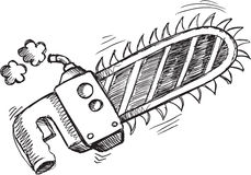 Doodle Chain Saw Vector Royalty Free Stock Photo