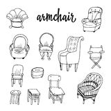 Doodle and chairs Stock Image