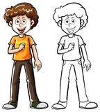 Doodle character for teenage boy Stock Photography