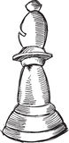 Doodle Chess Bishop Vector Stock Photo