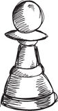 Doodle Chess Pawn Vector Stock Images